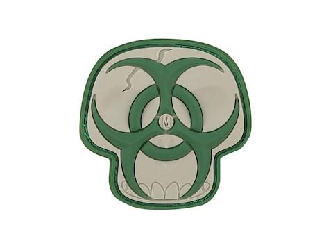 "Maxpedition Biohazard Skull PVC Morale Patch 2"" x 2"""