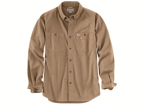 Carhartt Men's Rugged Flex Rigby Button-Up Work Long Sleeve Shirt Cotton/Spandex