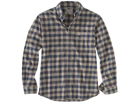 Carhartt Men's Rugged Flex Hamilton Plaid Long Sleeve Shirt Cotton/Spandex
