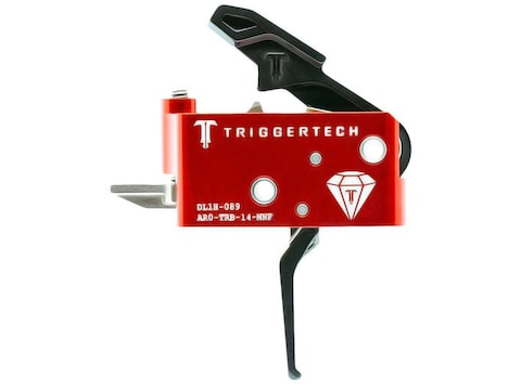TriggerTech AR Diamond Trigger Group Flat Bow AR-15, LR-308 Two Stage Black