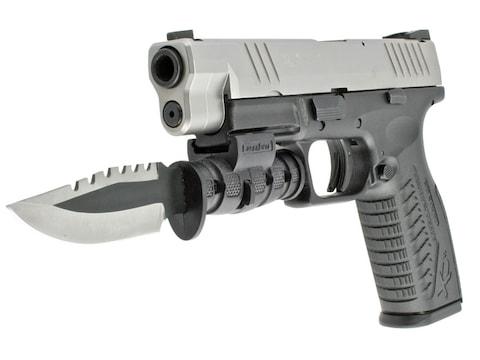LaserLyte Pistol Bayonet KA-BAR Mini-Survival Knife Serrated Stainless Steel Blade with...