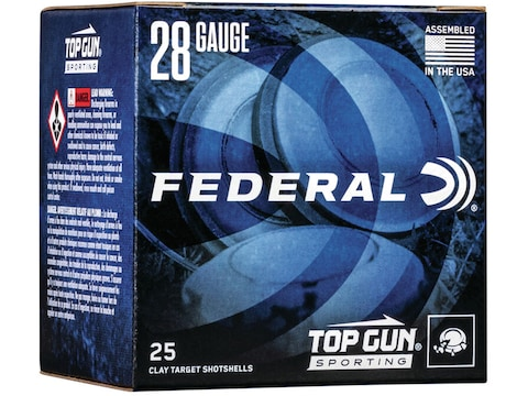"Federal Top Gun Sporting Ammunition 28 Gauge 2-3/4"" 3/4 oz"