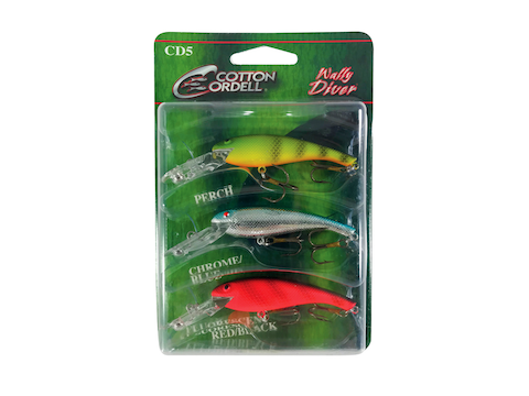 Cotton Cordell Wally Diver 3 Pack Crankbait Assorted