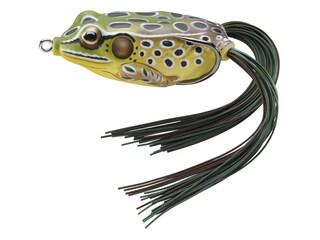 "LIVETARGET Hollow Body Frog 2.625"" Topwater Emerald/Brown"