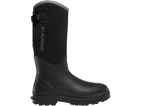 """LaCrosse 5mm Alpha Range 14"""" Work Boots Rubber Over Neoprene Black Men's"""