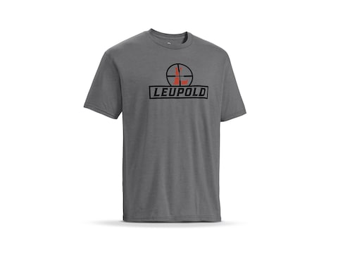 Leupold Men's Reticle Logo Short Sleeve T-Shirt Cotton/Polyester Heather Gray