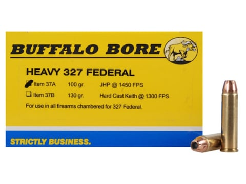 Buffalo Bore Ammunition 327 Federal Magnum 100 Grain Jacketed Hollow Point Box of 20