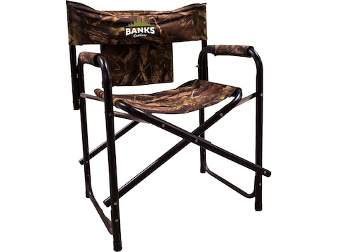 Banks Outdoors Box Blind Stump Chair Steel Black and Camo