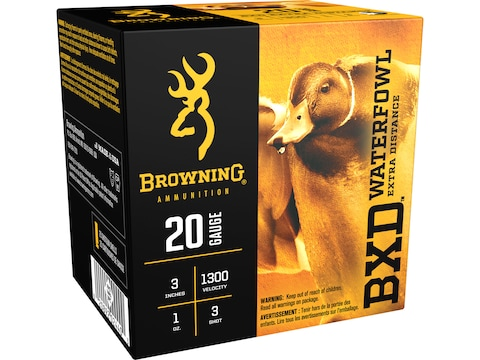 "Browning BXD Waterfowl Ammunition 20 Gauge 3"" 1 oz Non-Toxic Steel Shot"