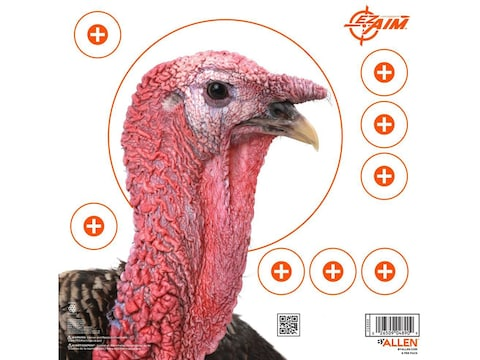 """Allen EZ-Aim 12"""" Paper Four Color Turkey Patterning Target Pack of 6"""