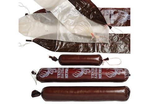 "LEM Fibrous Printed Sausage Casing Mahogany 2 1/2"" x 20"" Pack of 25"