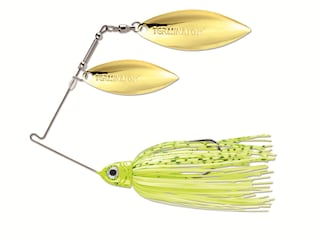 Terminator Pro Series Double Willow Spinnerbait 3/8oz Dirty Chartreuse Shad Gold