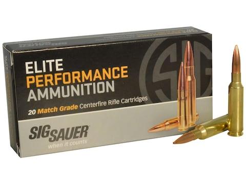 Sig Sauer Elite Performance Match Grade Ammunition 6.5 Creedmoor 140 Grain Open Tip Match