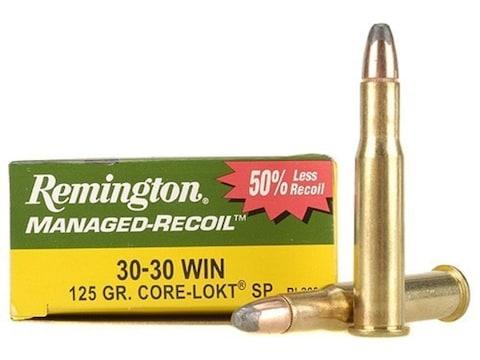 Remington Managed-Recoil Ammunition 30-30 Winchester 125 Grain Core-Lokt Soft Point Box...