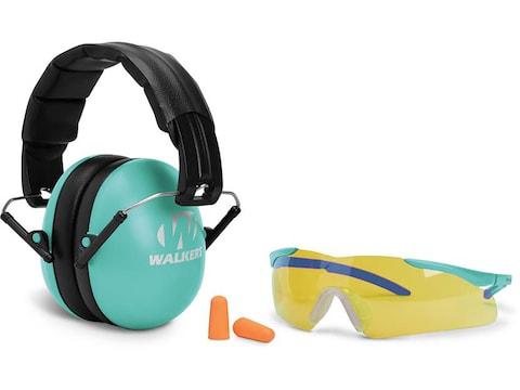 Walker's Razor Youth and Women's Passive Earmuffs Kit (NRR 33dB) Teal