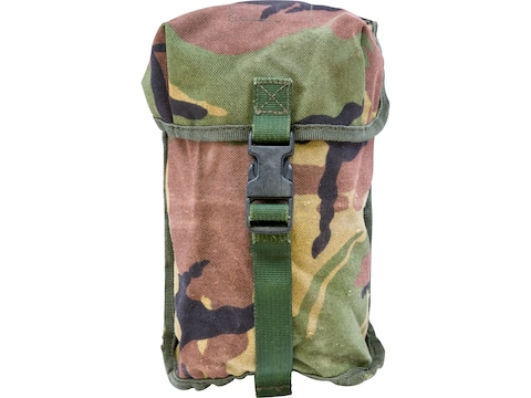 Military Surplus Dutch MOLLE Canteen Pouch Grade 2 Dutch Woodland Camo