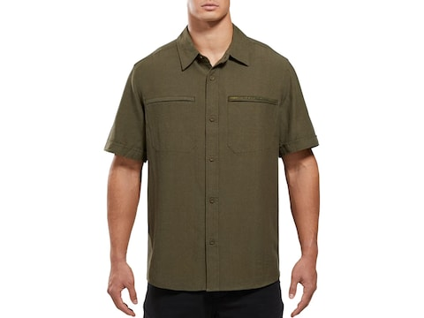 Viktos Men's Shemagh Button-Up Short Sleeve Shirt Cotton/Linen
