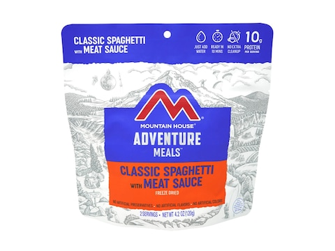 Mountain House Classic Spaghetti with Meat Sauce Freeze Dried Food 2 Serving