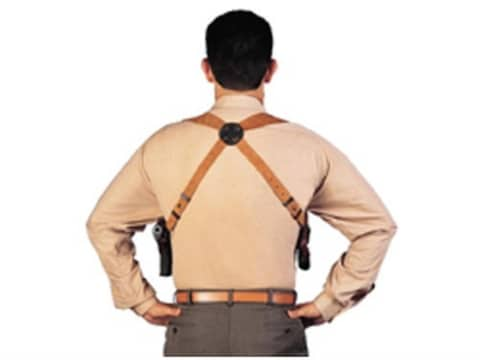 """Bianchi X16B Agent X Harness Leather Tan Up to 48"""" Chest"""