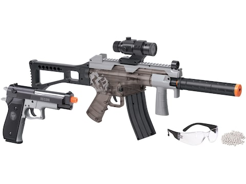 Game Face Affliction AEG Airsoft Rifle & Spring Powered Pistol Kit