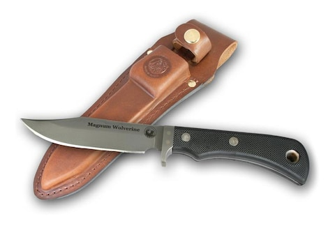 """Knives of Alaska Magnum Wolverine Fixed Blade Knife 4.5"""" Clip Point D2 Tool Steel Blade..."""