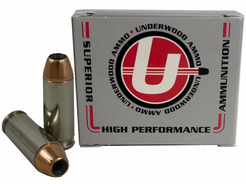 Underwood Ammunition 10mm Auto 150 Grain Jacketed Hollow Point Box of 20