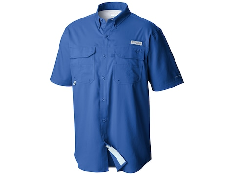 Columbia Men's PFG Blood and Guts III Button-Up Short Sleeve Shirt Polyester