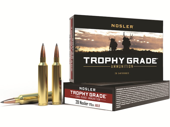 Nosler Trophy Grade Ammunition 28 Nosler 175 Grain AccuBond Long Range Box of 20