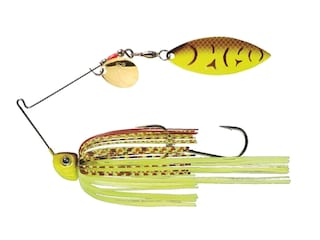 Strike King Tour Grade Painted Blade SB Tandem Spinnerbait 3/8oz Chartreuse Belly Craw Painted