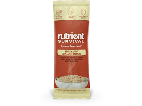 Nutrient Survival Hearty Apple Cinnamon Oatmeal Freeze Dried Food