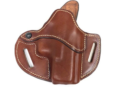Hunter 2 Loop Pancake Holster Right Hand Polymer80 Leather Tan