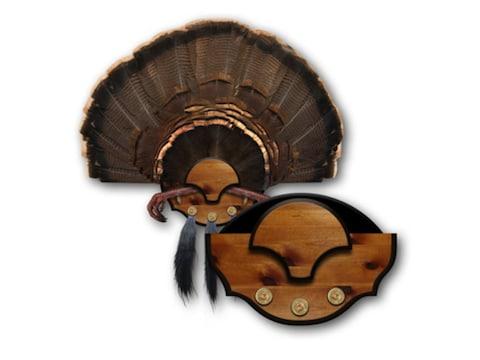 Mountain Mike's Beard Master Turkey Fan Mounting Plaque Polymer Wood Grain
