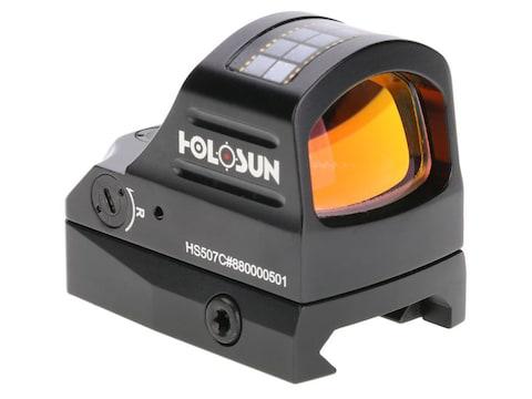 Holosun HE507C-GR Reflex Sight 1x Selectable Green Reticle Weaver-Style Mount Solar/Bat...