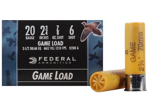 """Federal Game-Shok Game Load Ammunition 20 Gauge 2-3/4"""" 7/8 oz"""