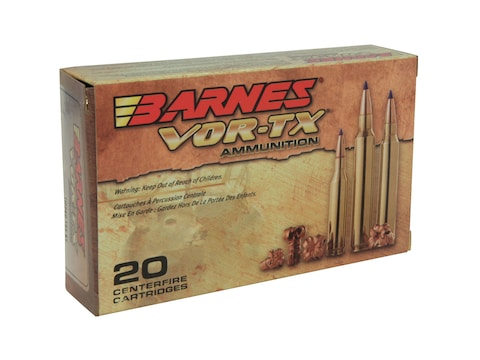 Barnes VOR-TX Ammunition 6.5 Creedmoor 120 Grain TTSX Polymer Tipped Boat Tail Lead-Fre...