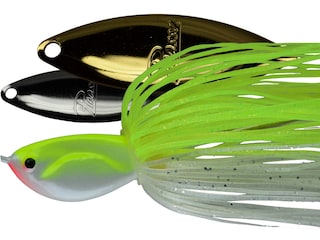 Picasso Double Willow Spinnerbait 1/4oz Chartreuse/White Nickel/Gold