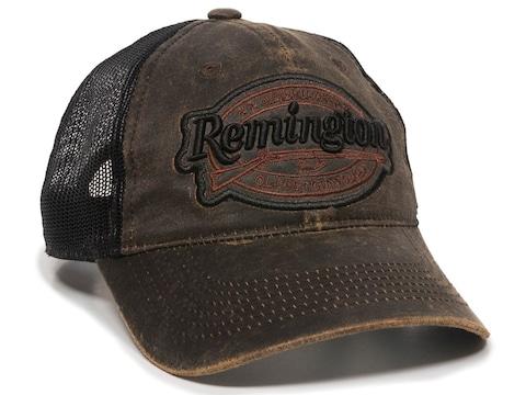Remington Weathered Cotton Low Crown Logo Cap One Size Fits Most Cotton Dark Brown/Black