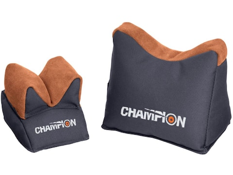Champion Bench Rest Shooting Rest Bags Nylon and Leather Gray