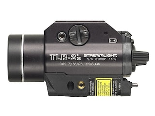 Streamlight TLR-2S Weapon Light LED with Laser and 2 CR123A Batteries fits Picatinny and Glock Rails Aluminum Matte