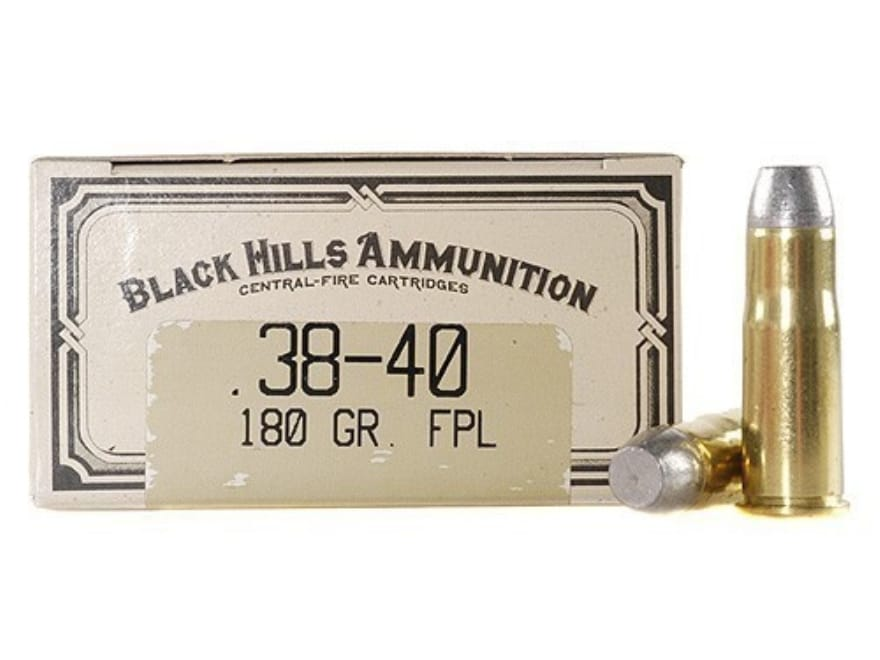 Black Hills Cowboy Action Ammo 38 40 Wcf 180 Grain Lead Flat Nose Box