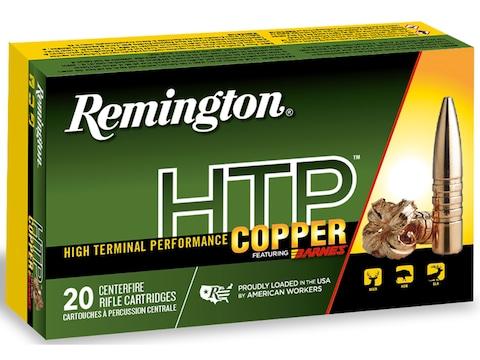 Remington HTP Copper Ammunition 30-06 Springfield 168 Grain Barnes TSX Hollow Point Boa...