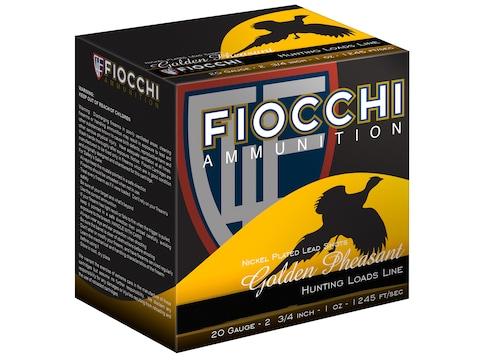 "Fiocchi Golden Pheasant Ammunition 20 Gauge 2-3/4"" 1 oz #5 Nickel Plated Shot Box of 25"