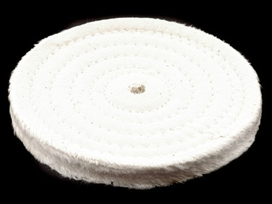 """6/"""" Buffing Polishing Wheel 1//2/"""" thick 1//2/"""" Arbor Hole spiral sewn bench grinders"""
