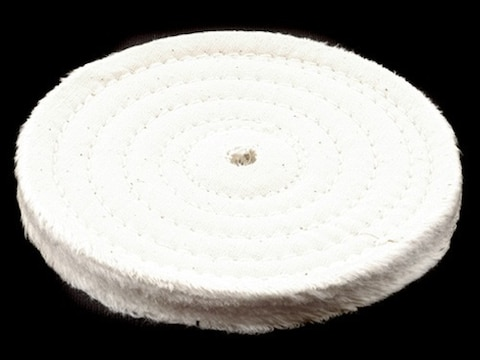 """Formax 6"""" Diameter 1/2"""" Thick Spiral Sewn Cotton Buffing and Polishing Wheel for 5/8"""" o..."""