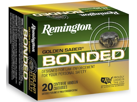Remington Golden Saber Bonded Ammunition 40 S&W 180 Grain Jacketed Hollow Point