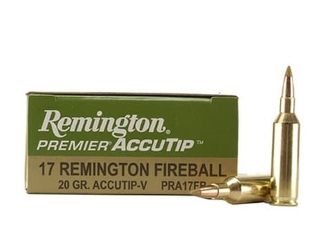 Remington Premier Varmint Ammunition 17 Remington Fireball 20 Grain AccuTip Boat Tail B...