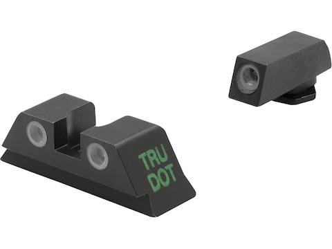Meprolight Tru-Dot Sight Set Glock 17, 19, 22, 23, 24, 35 Steel Blue Tritium Green Front