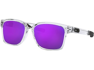 Oakley Catalyst Sunglasses Polished Clear Frame/Violet Iridium Lens