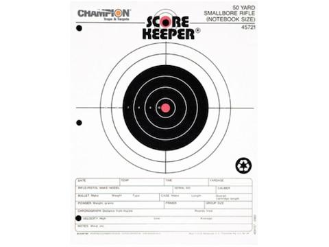 "Champion Score Keeper 50 Yard Small Bore Notebook Targets 8.5"" x 11"" Paper Orange Bull ..."
