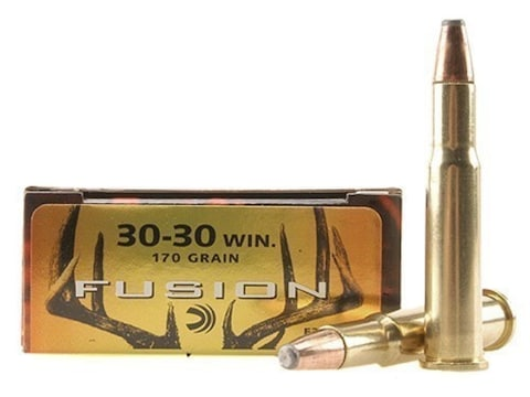 Federal Fusion Ammunition 30-30 Winchester 170 Grain Bonded Flat Nose Box of 20